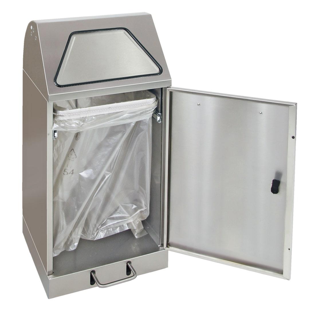 Abfalltrennung Modul-Vario 60, ProSlide-System, Trethebel, edelstahl