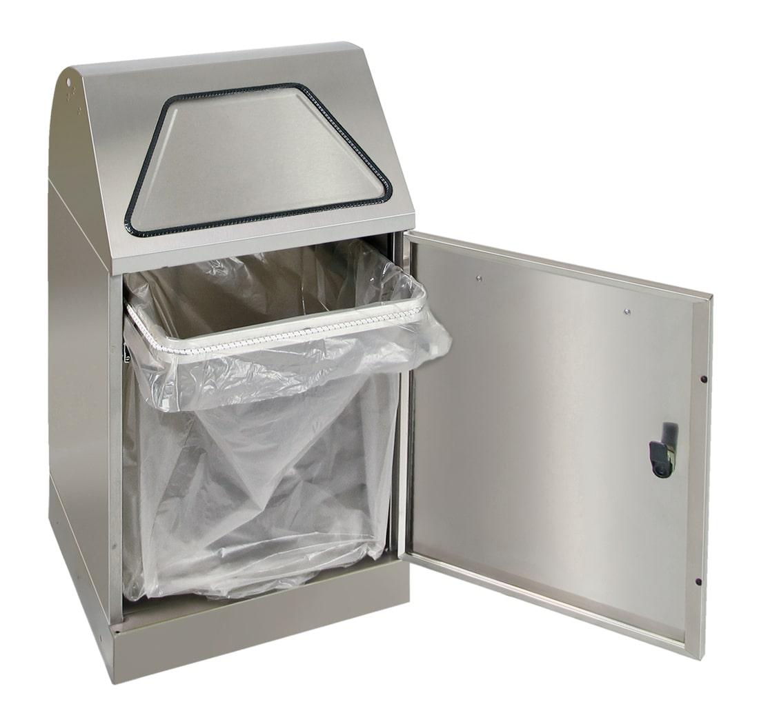 Abfalltrennung Modul-Vario 45, ProSlide-System, edelstahl