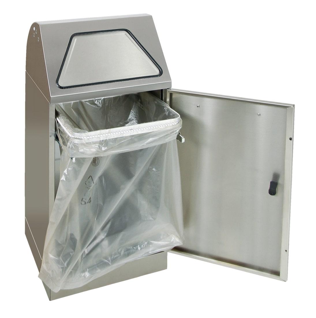 Abfalltrennung Modul-Vario 60, ProSlide-System, edelstahl